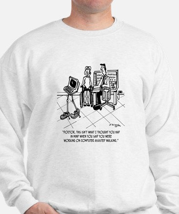 Disability Cartoon 1795 Sweatshirt