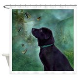 Black lab Shower Curtains