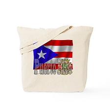 Silky Flag Puerto Rico Tote Bag