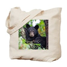 Baby Black Bear Tote Bag