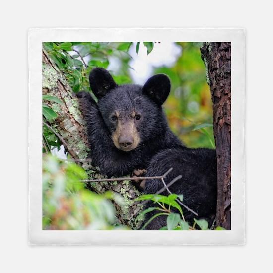 Baby Black Bear Queen Duvet