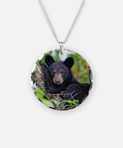 Baby Black Bear Necklace