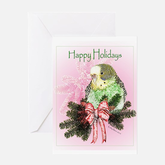 Happy Holidays Parakeet - Card Greeting Cards