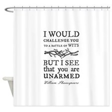 Battle of Wits Shower Curtain