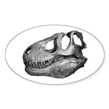 T-Rex Skull Oval Decal