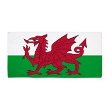 Welsh Flag of Wales Beach Towel