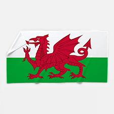 Welsh Flag of Wales Beach Towel