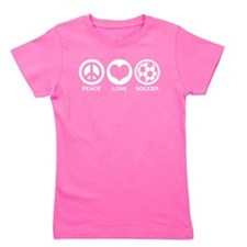 Unique Peace love soccer Girl's Tee