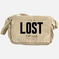 It's a LOST Thing Canvas Messenger Bag