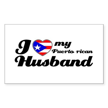Puerto rican Husband Rectangle Sticker