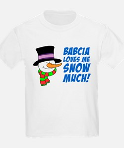 Babcia Loves Me Snow Much T-Shirt