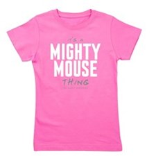 It's a Mighty Mouse Thing Girl's Dark Tee
