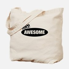 Mr. Awesome & Mrs. Awesome Couples Design Tote Bag