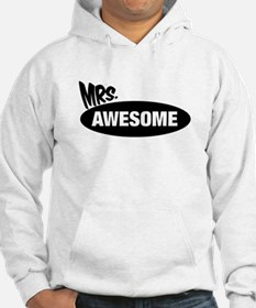 Mr. Awesome & Mrs. Awesome Couples Design Hoodie