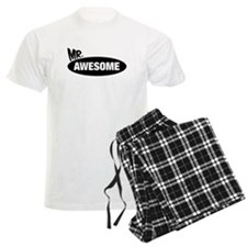 Mr. Awesome & Mrs. Awesome Couples Design Pajamas