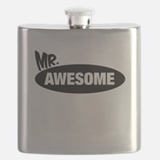 Mr. Awesome & Mrs. Awesome Couples Design Flask