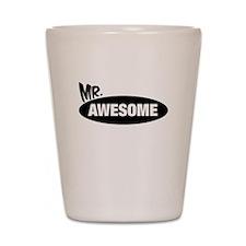 Mr. Awesome & Mrs. Awesome Couples Design Shot Gla