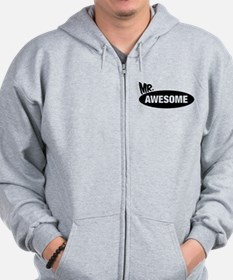 Mr. Awesome & Mrs. Awesome Couples Design Zip Hoodie