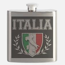 Vintage Italinan Crest Flask