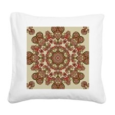 Old Nature Kaleidscope Square Canvas Pillow