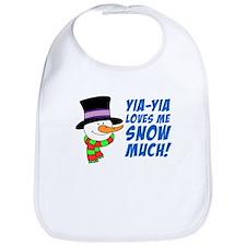 Yia-Yia Loves Me Snow Much Bib
