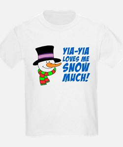 Yia-Yia Loves Me Snow Much T-Shirt