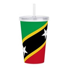 St Kitts Nevis Flag Acrylic Double-wall Tumbler