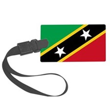 St Kitts Nevis Flag Luggage Tag
