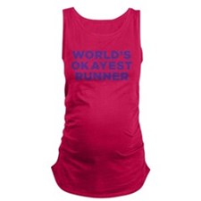 Worlds Okayest Runner - Purple Maternity Tank Top