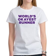 Worlds Okayest Runner - Purple T-Shirt