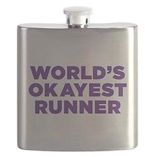 World's Okayest Runner Flask