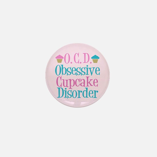 Pink Cupcake Mini Button