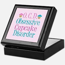 Pink Cupcake Keepsake Box