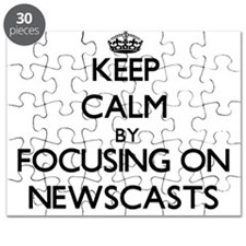 Keep Calm by focusing on Newscasts Puzzle