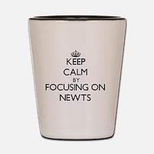 Keep Calm by focusing on Newts Shot Glass