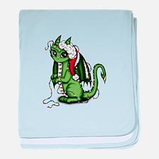 Christmas Dragon baby blanket