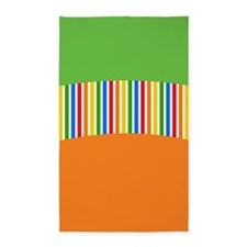 Colorful Stripes 3'x5' Area Rug