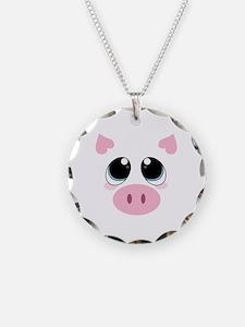 Pig Face Necklace