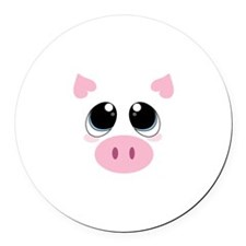 Pig Face Round Car Magnet