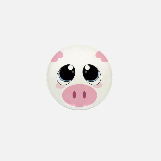 Pig Face Mini Button