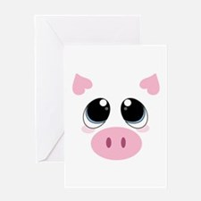 Pig Face Greeting Cards