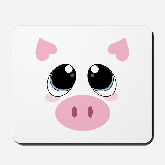 Pig Face Mousepad
