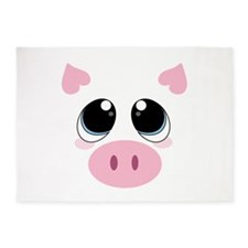 Pig Face 5'x7'Area Rug