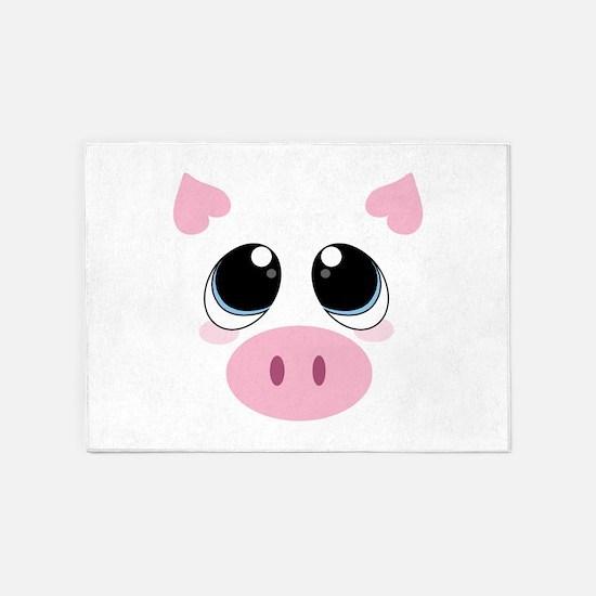 Pig Face 5'x7'Area Rug