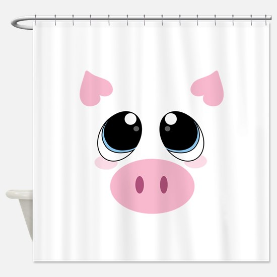 Pig Face Shower Curtain