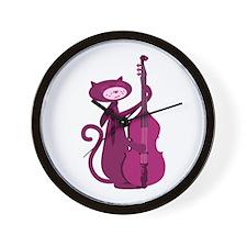 Bass Cat Wall Clock