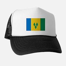 St Vincent Grenadines Flag Trucker Hat