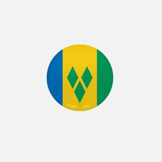 St Vincent Grenadines Flag Mini Button