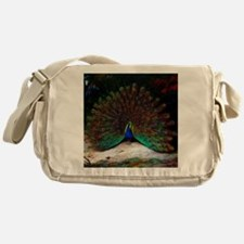 Peacock and Peacock Butterfly Messenger Bag