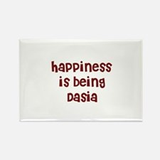 happiness is being Dasia Rectangle Magnet